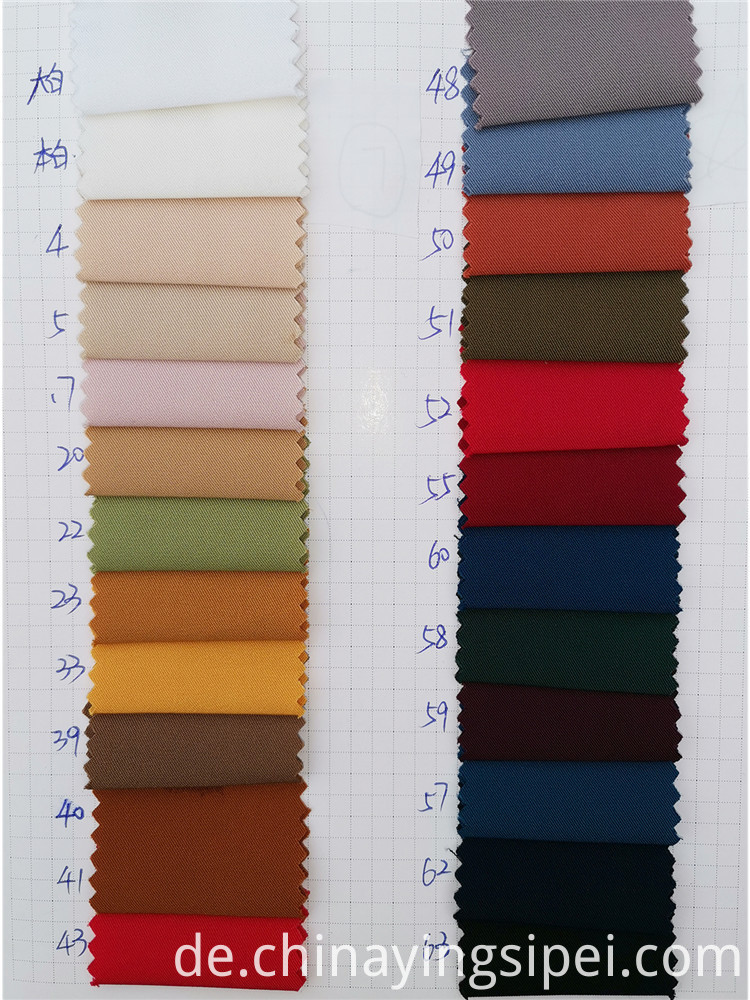 China manufacturer spun twill dyed soft 100% polyester fabric for garment