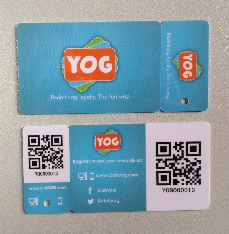 Barcode Card in Supermarket and Irregularity Card Customized Card