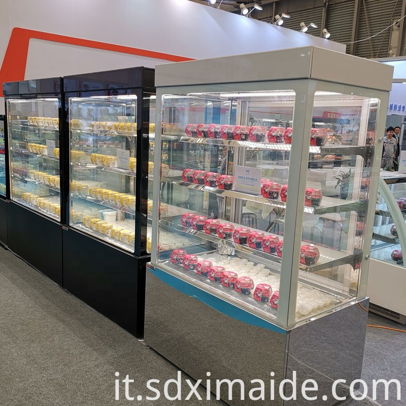 cold refrigerators showcase