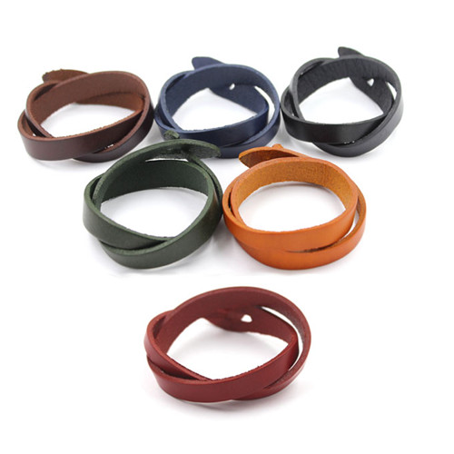 Hand Accessories for Men Anchor Clasp Leather Bracelet