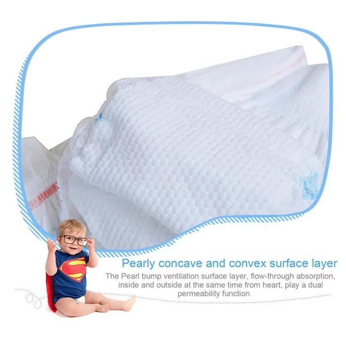 Full Cotton Baby Care Products M Size Disposable Baby Diaper From China Manufacturer