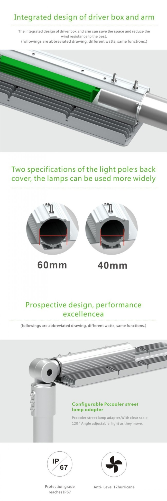 5 Years Warranty 30W LED Street Light Orsam 3030 10kv Surge Protection
