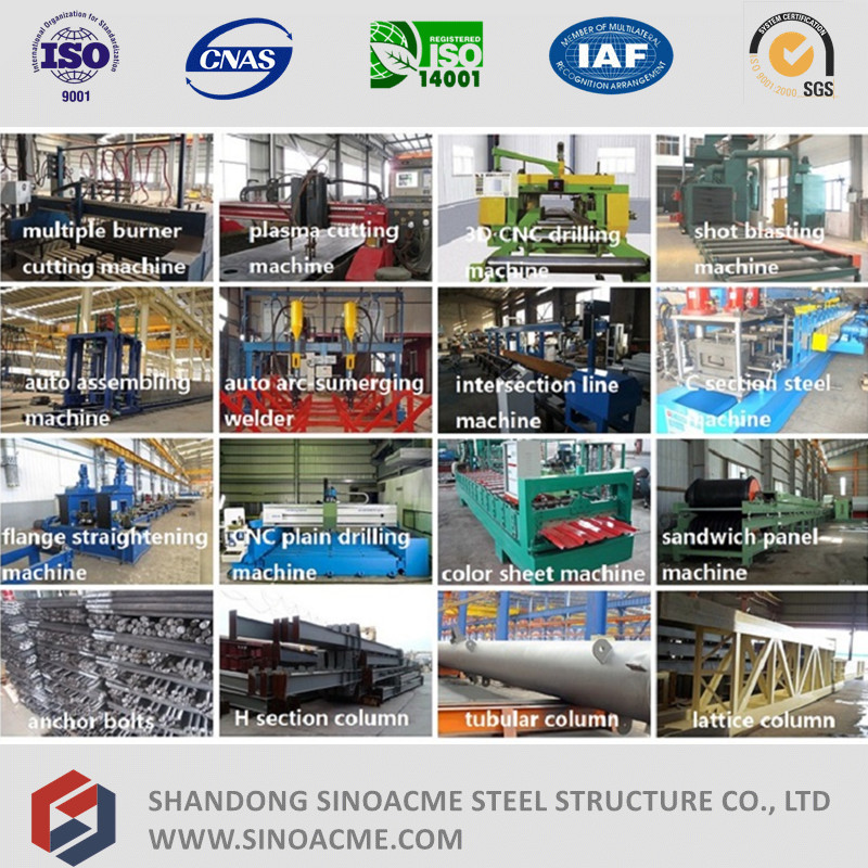 Peb Steel Structure High Rise Workshop Shed with Crane