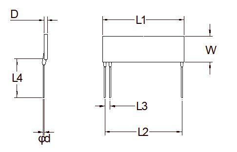 Divisor de resistencia planar de alto voltaje