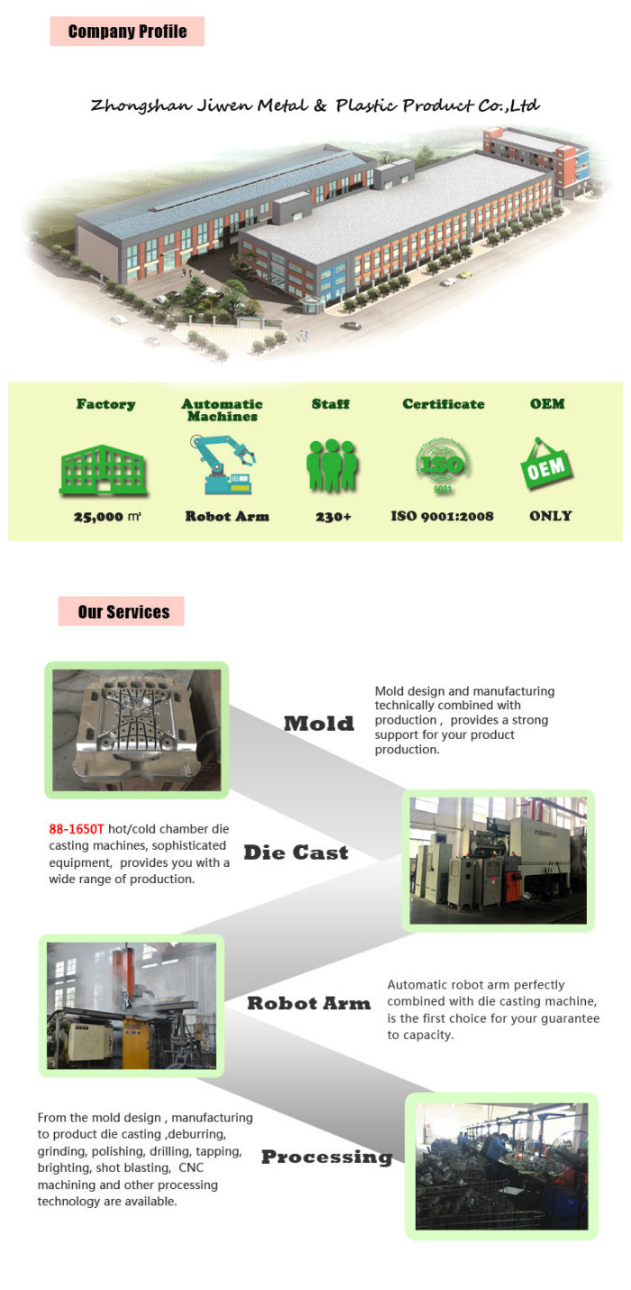 OEM Fabrication Services Aluminum Injection Die Casting