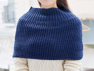 Womens Neck Warmer Sweater Cardigan Winter Knitted Loop Snood Ponch (SP608)