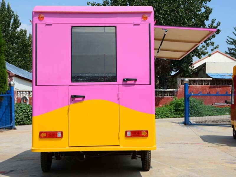 Pink Mobile Fast Food Truck for Sale Europe