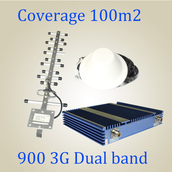 27dBm Power Dual Band 900/2100MHz Mobile Signal Repeater, 3G WCDMA GSM Booster