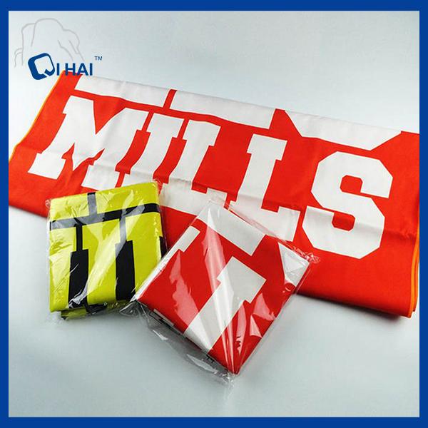 Microfiber Print Logo Gift Towel (QHM882211)