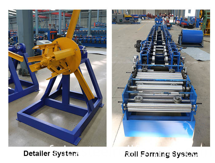 Cold Rolled Lipped C Channel Roll Forming Machine