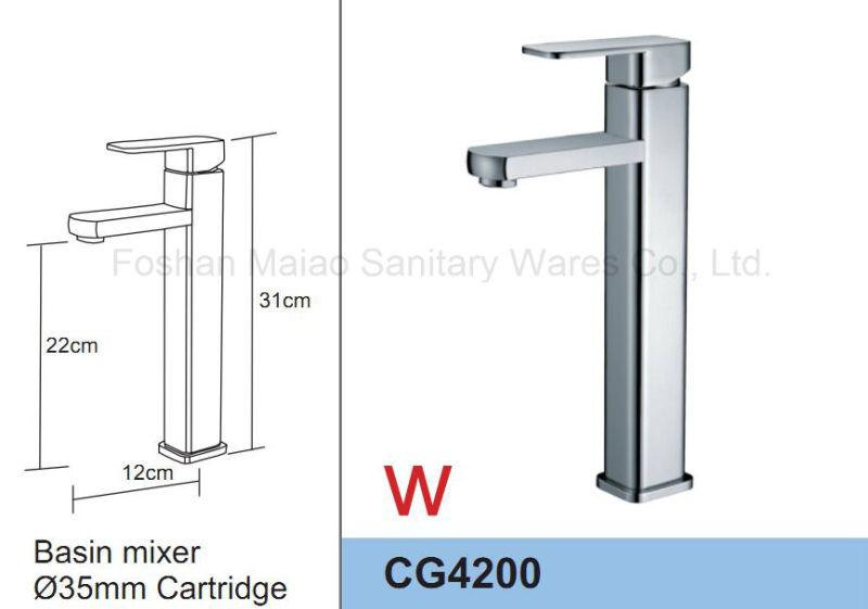 Watermark Round Brass Bathroom Singel Lever Faucet (CG4200)