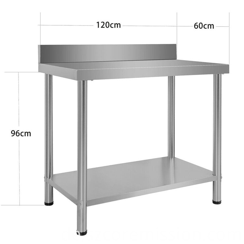 Commercial Kitchen Stainless Steel Work Food Prep Table