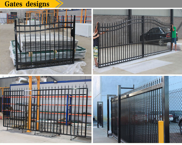 Factory Price Residental New House Wrought Iron Fence for Sale