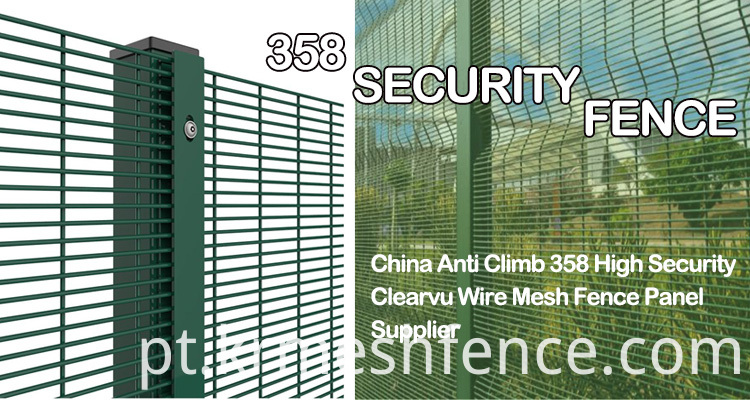 Hot dipped Galvanized High Security 358 Fence