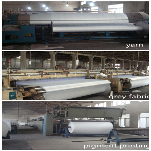 Stock Fabric of 100% Polyestser Brushed Pongee for Bedsheet Fabric