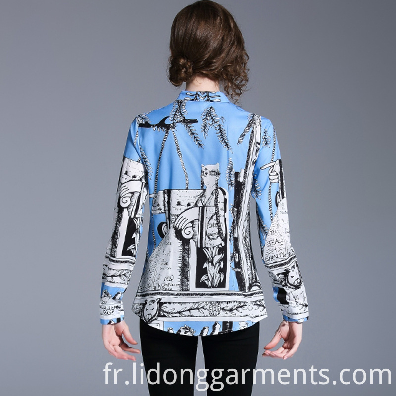 Women Printed Blouse Long Sleeves