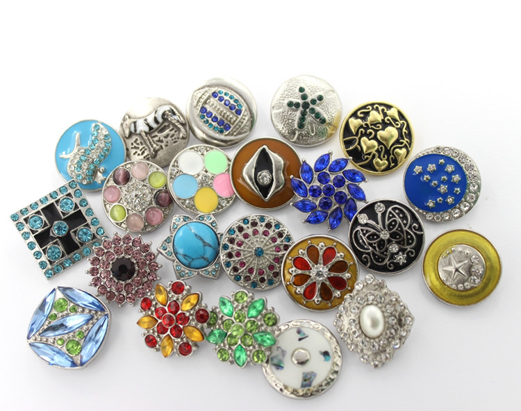 New Designed Colorful Metal Snap Button 18mm