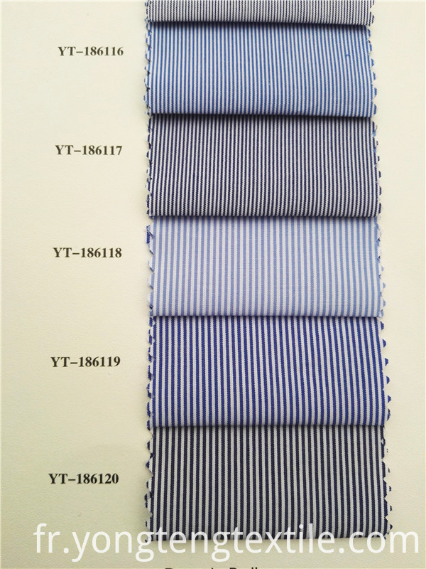 Cotton Striated Shirt Fabric