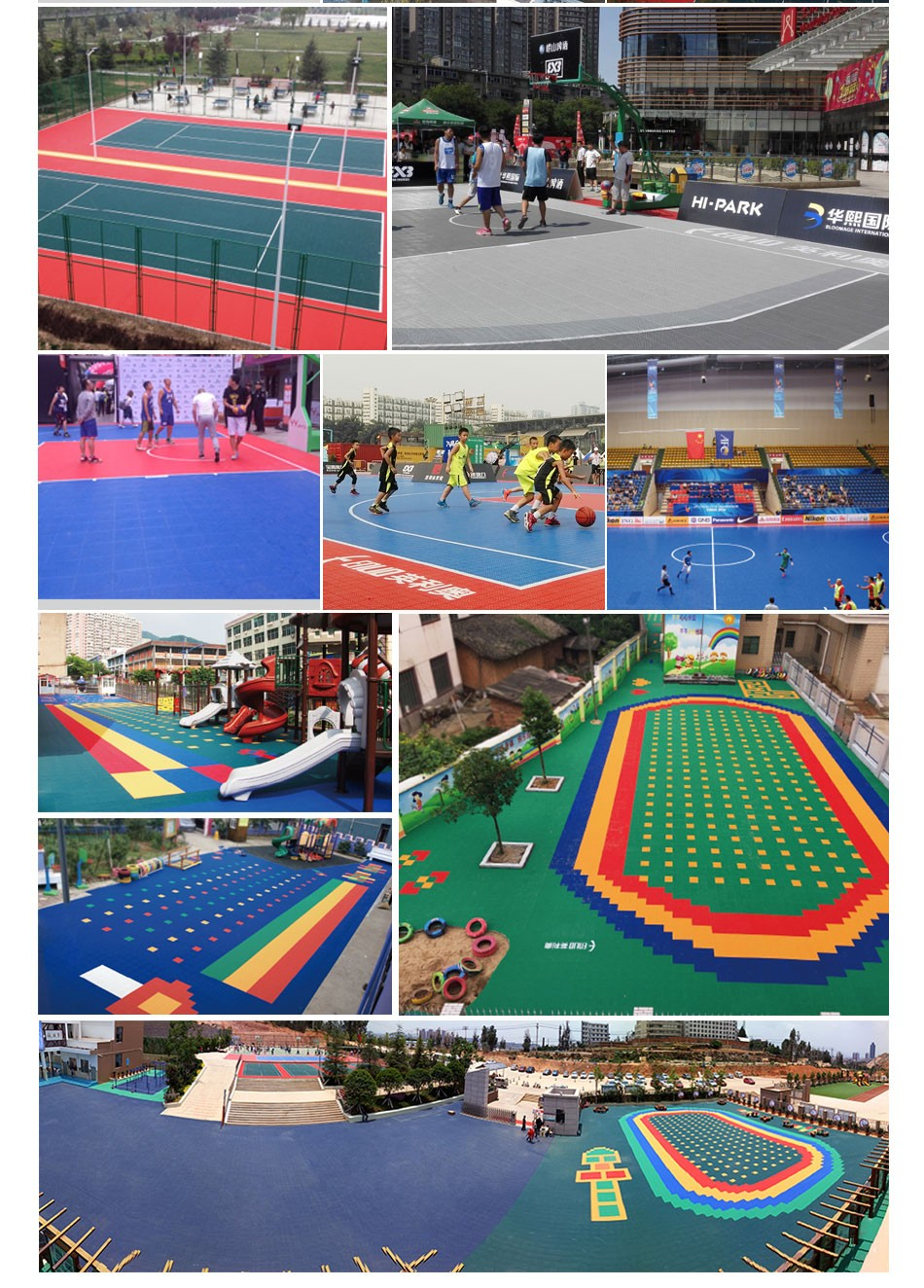 Outdoor Sports Flooring Surface