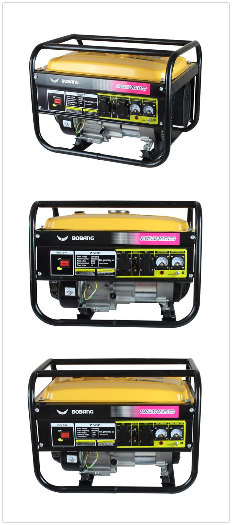 China 2kw 168f Petrol Gasoline Generator (Bb2500)