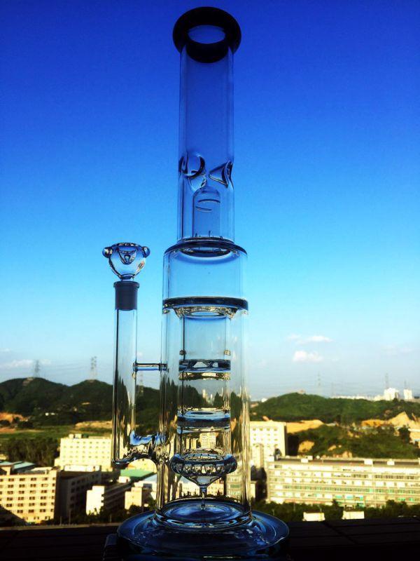 Factory Wholesale Hitman 47cm Borosilicate Material Glass Water Pipe
