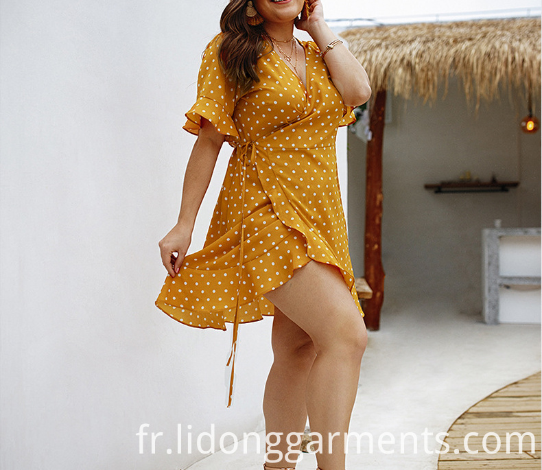 Printed Summer Plus Size Dress