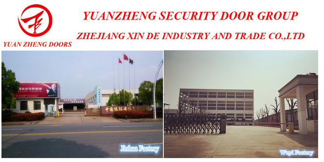 Wooden Color Steel Security Main Door Design