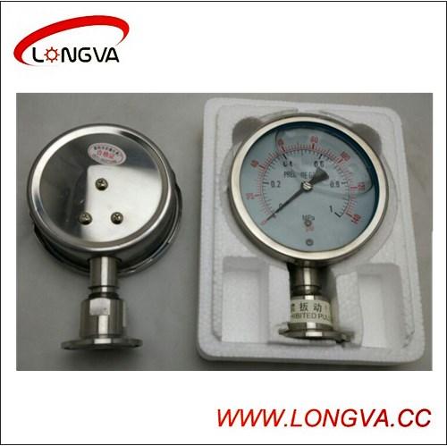 Sanitary Stainless Steel Clamped Pressure Gauge