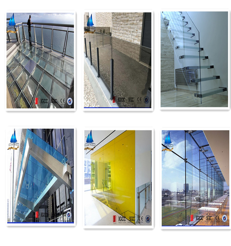 Colored Laminated Glass For Buildings