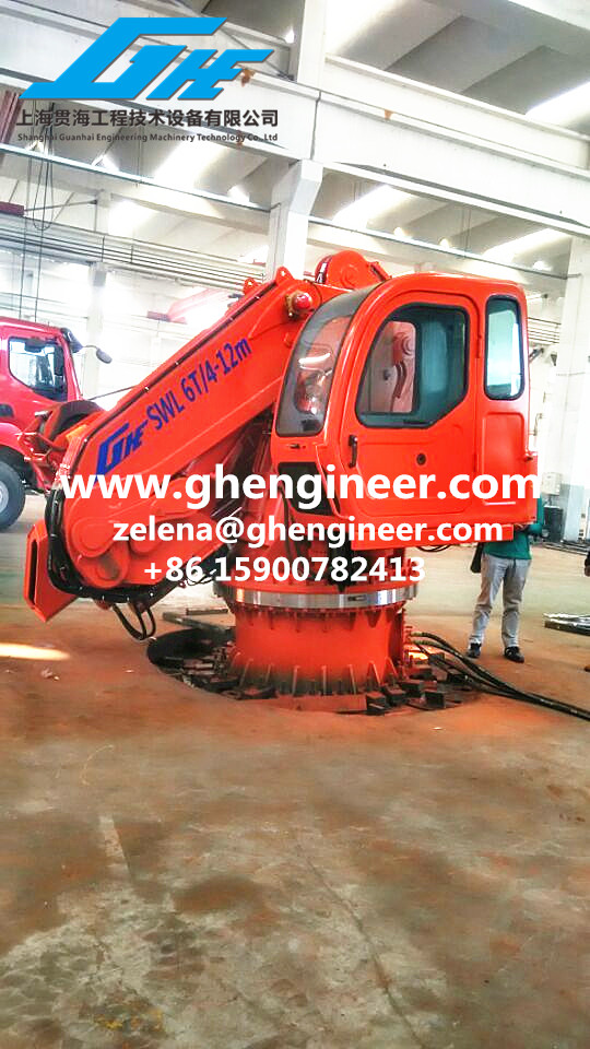 Telescopic and Full Knuckle Boom Crane with Opearation Room