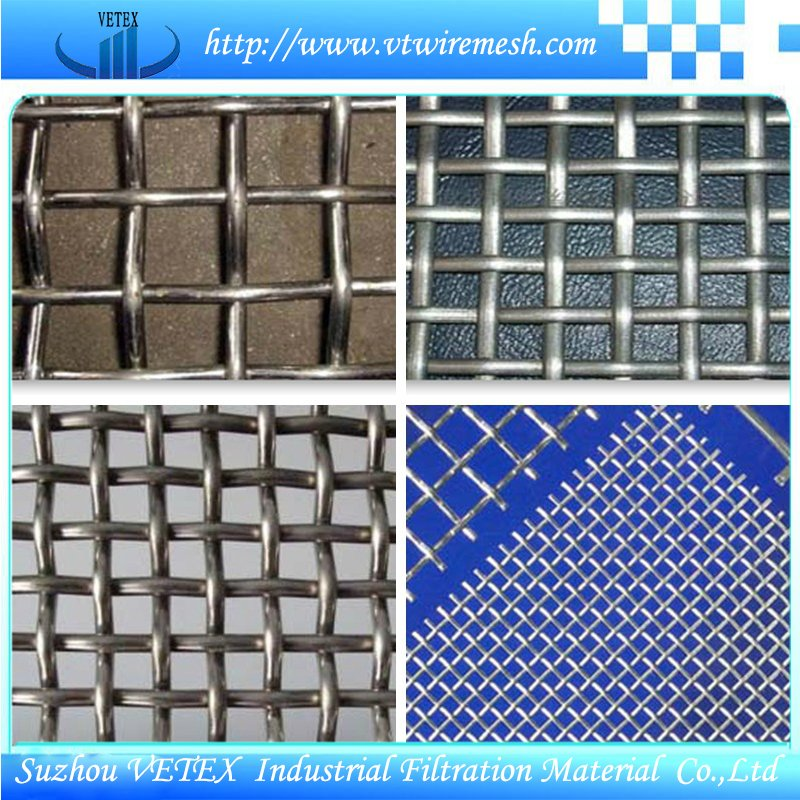 Crimped Square Wire Mesh Used in Building