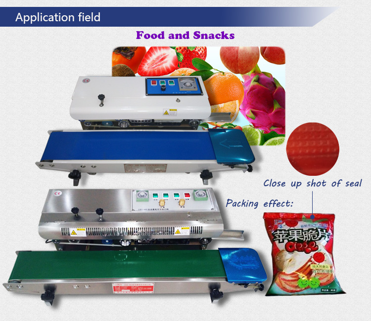 Mobile Continuous Sealer Table Top Horizontal Continue Band Sealing Machine with 110 220V 60Hz 50Hz for Long Big Size Bag Mouth