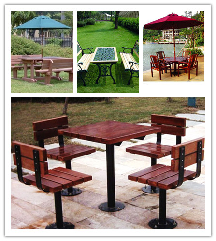2014 Factory Direct Sale WPC Landscape Tables and Chairs