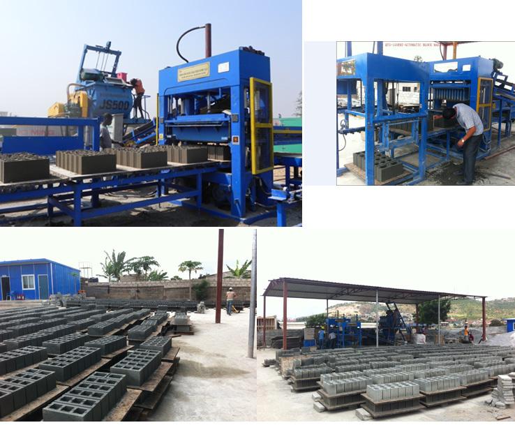Cement Semi Block Making Machine Brick Making Machine (QT4-25)