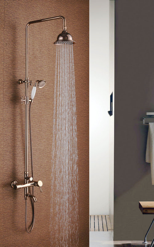 Bathroom Three Functions Shower Set with Golden Color
