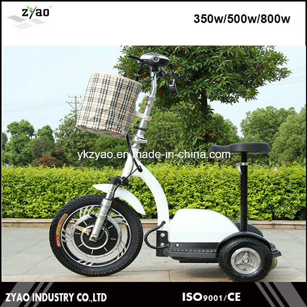 36V/48V 500W Electric Mobility Scooter 3 Wheels
