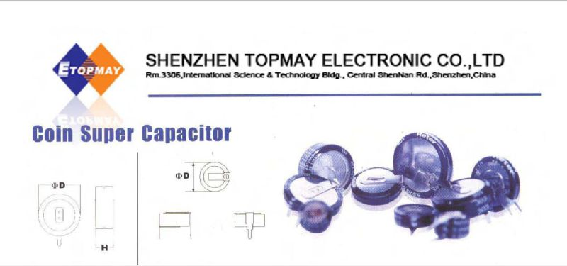 Coin H Type Super Capacitor 1f 5.5V Topmay 2016