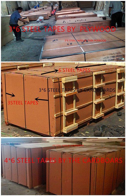 Phenolic Plywood Brown Film Combined Core for Construction Usages