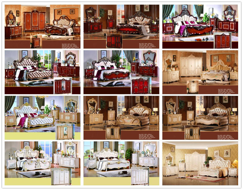 Home Furniture with King Bed and Wardrobe and Cabinet (W811B)