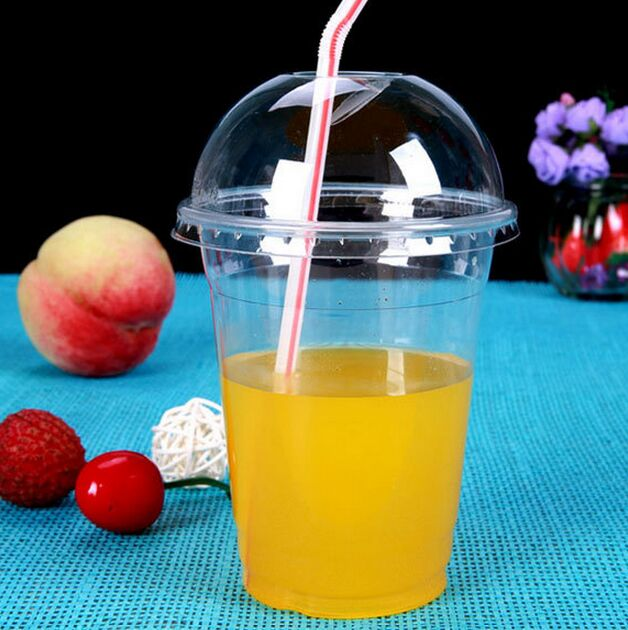 16oz-98mm Take Away Pet Drink Cup for Drinking Cold Water/Juice/Milk/Beverage