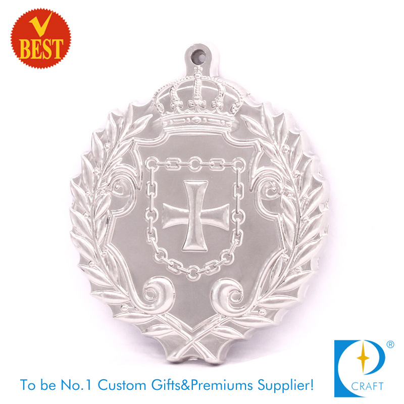 Supply China Customized High Quality Silver Plating 3D Religious Medal with Zinc Alloy