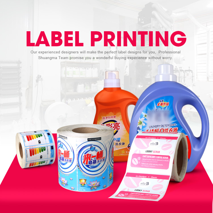 Customized waterproof die cut PVC label sticker printing