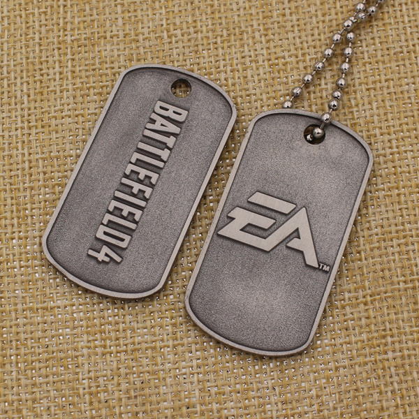 Wholesale Cheap Metal Custom Dog Tags with Chain