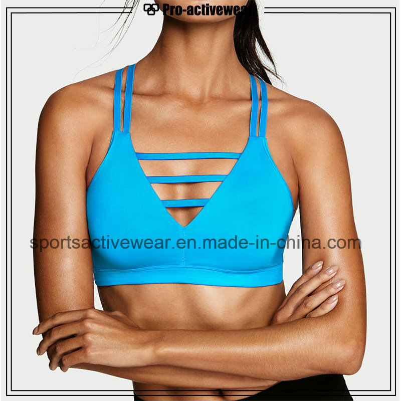 OEM Hot Sale Sublimation Fabric Strappy Yoga Bra