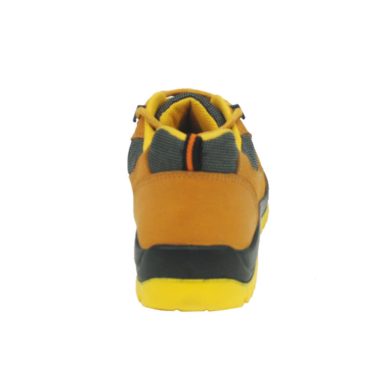 Top Layer Nubuck and Yellow Lining Safety Shoes (HQ08003)
