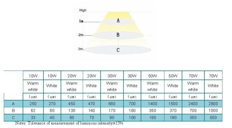 Outdoor Lighting 10W LED Flood Light/30W LED Flood Light/50W LED Flood Light