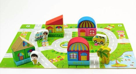 Colorful Wooden Block Set