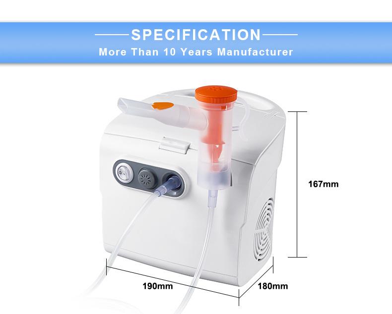 Портативный небулайзер с медицинским воздушным компрессором для ухода за младенцами и пожилыми людьми, дома и в больнице с сертификатом FDA, CE и ISO