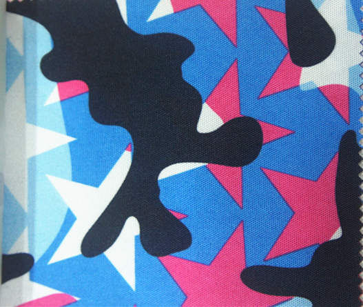 900d Camouflage Star Printed Polyester Fabric with PU Coating