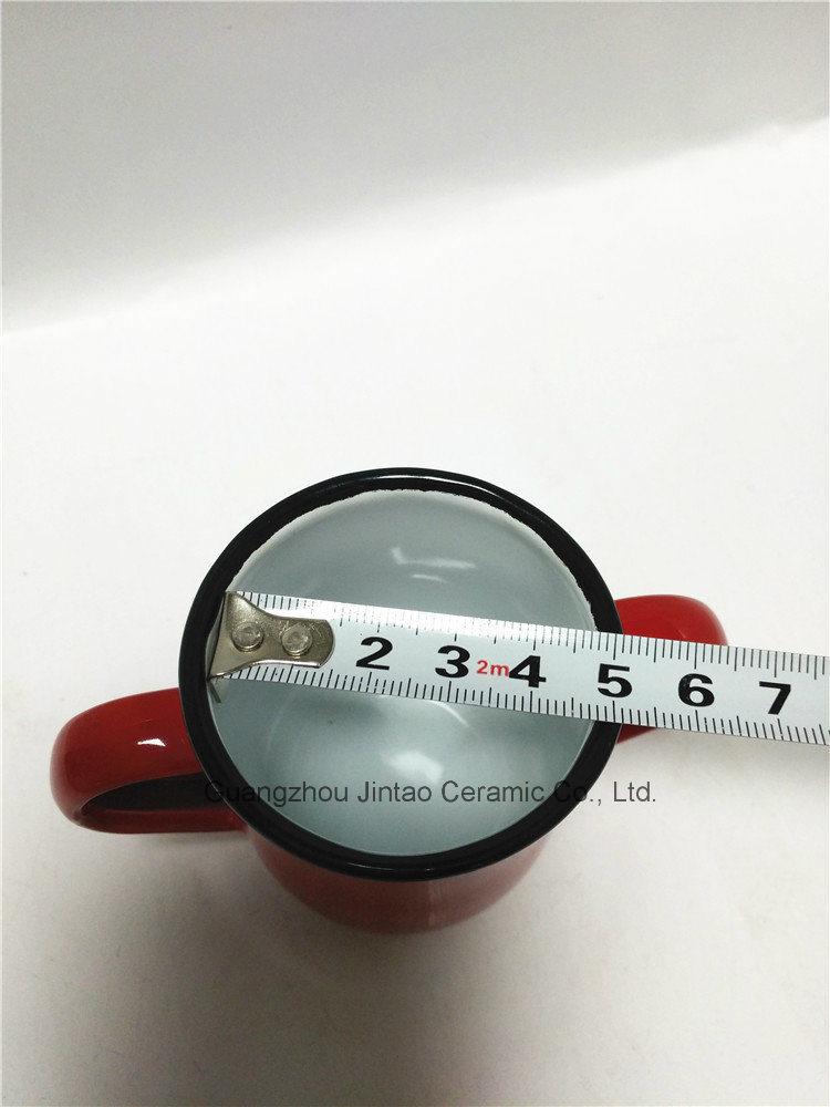 Enamel Mug with Enamel Double Hand Logo Printing